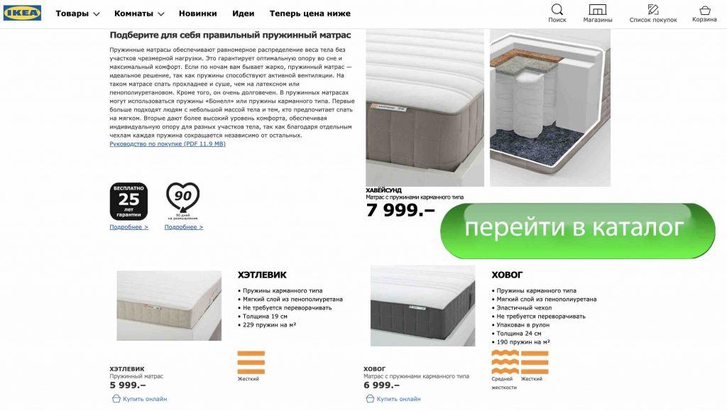 Matrasa-Ikea-s-pruzhinami-karmannogo-tipa
